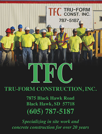 Featured ad in Construction Today…